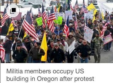 BLM Militia protest in Oregon