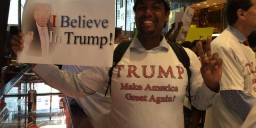 Black trumpsupporter shot in chicago