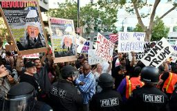 Trump rally riots, San jose.