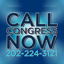 Call congress, telephone number given.