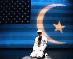 Islamization crscent smaller on Am flag